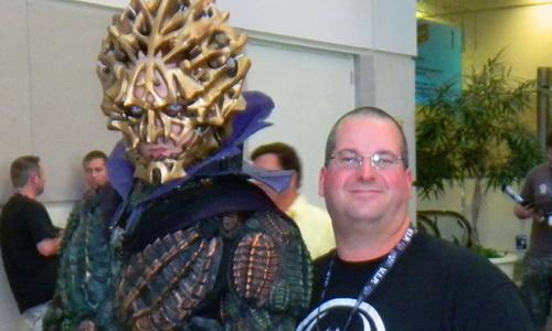 Drew Karpyshyn and Darth Bane's cosplay