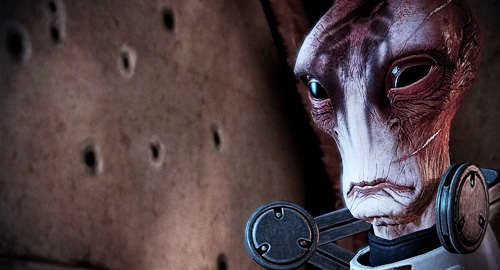 Mass Effect 2 Mordin Solus sad