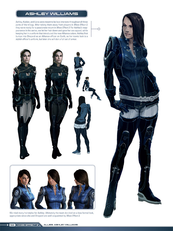 Art of Mass Effect preview Ashley