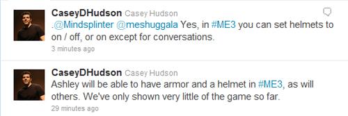 Mass Effect 3 Caysey Hudson Twitter