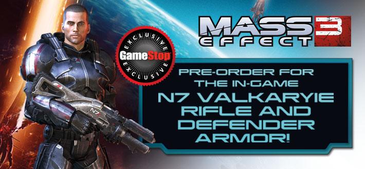Mass Effect 3 Gamestop Valkyrie rifle Defender armor