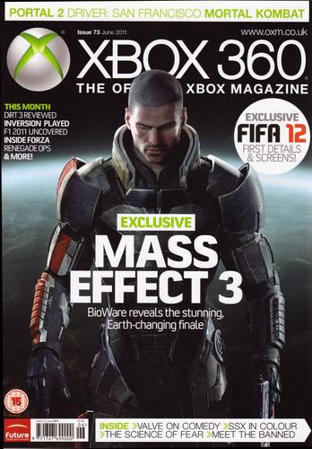 Mass Effect 3 - Обложка OXM