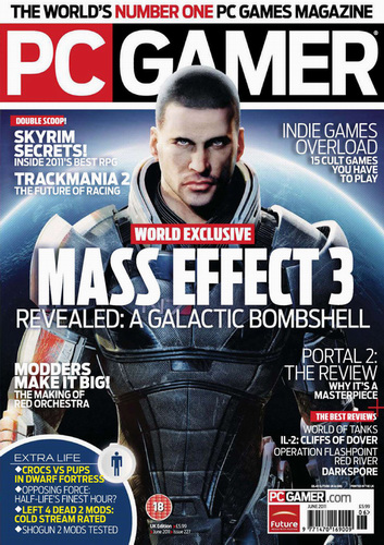 Mass Effect 3 - Обложка PC Gamer US