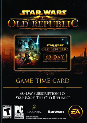 Карта оплаты Star Wars: The Old Republic