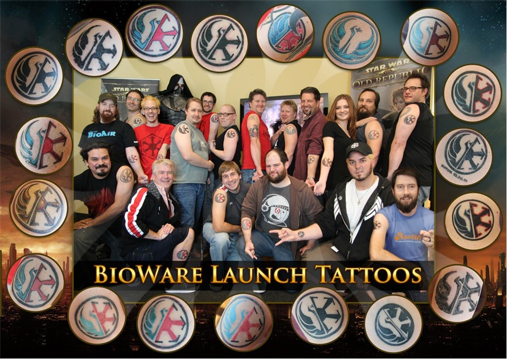 The Old Republic launch BioWare's tattoos